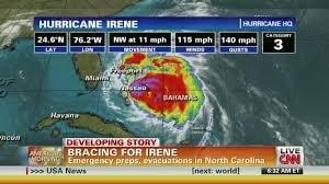 hurricane irene lessons